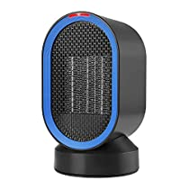 CARWORD Oscillating Ceramic Heater Portable Electric Fan Personal Space with Hot Natural Wind, Over-Heat & Tip-Over Protection for Home and Office Use