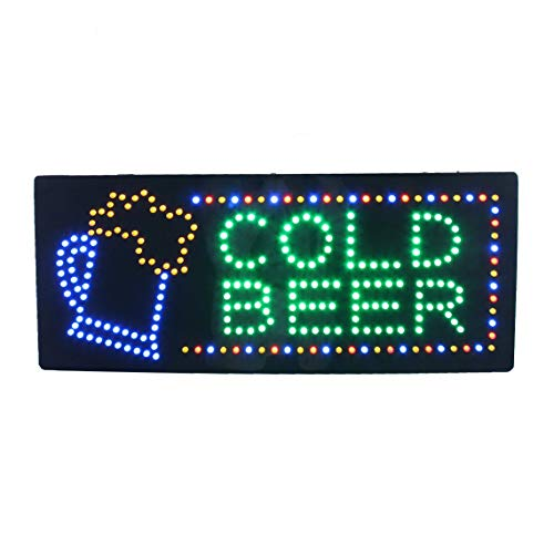 HIDLY LED Beer Bar Wine Liquor Spirits Open Light Sign Super Bright Electric Advertising Display Board for Pub Club Bistro Business Shop Store Window Bedroom 32 x 13 inches]()