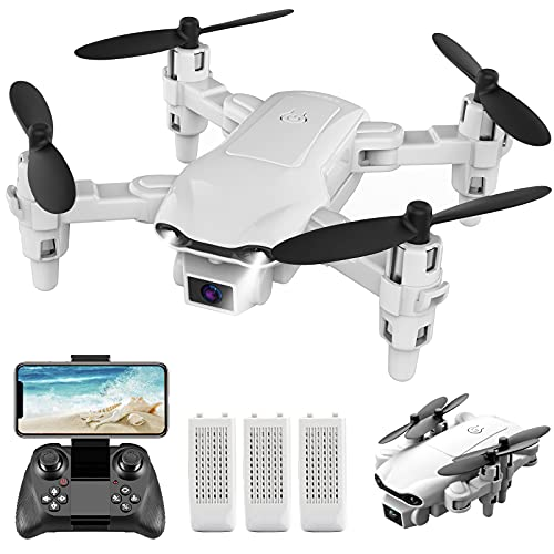4DRC V9 Mini Drone with Camera for Adults Kids,720P HD FPV Live Video Camera,3 Batteries,RC Quadcopter Helicopter…