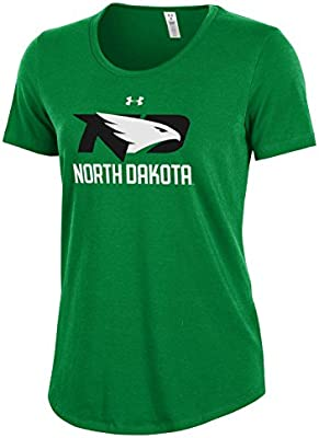 64a621fcd8 Under Armour NCAA North Dakota Women's Short sleeve Charged Cotton ...