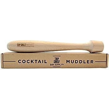 "Extra Long Wooden Cocktail Muddler - Professional Size 12"" Hardwood Drink Muddler"