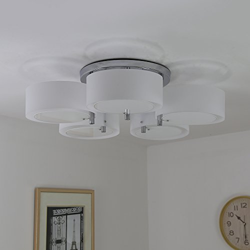 Dining Room Ceiling Light Fixtures: NATSEN Ceiling Lights Metal Semi Flush Mount Ceiling Light