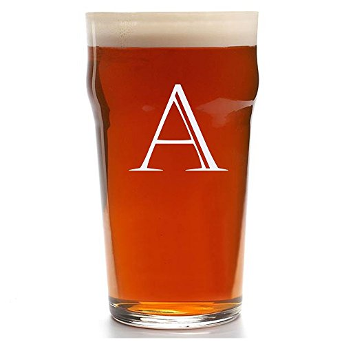 Personalized Pub Glass, Customized English Pub Glasses, Engraved Beer Pub Glass, Initial Beer glasses -