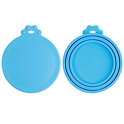 HOYMN Pet Food Can Covers - 2 Pack - Universal Lids for Dog