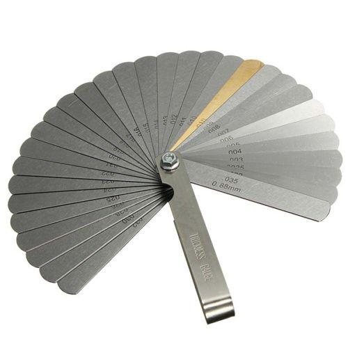 0.038 to 0.889mm 32 Blade Feeler Gauge Thickness Gap Metric Gauge - 8