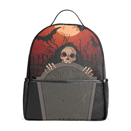 Lightweight Halloween Grim Backpacks Girls School Bags Kids Bookbags, -