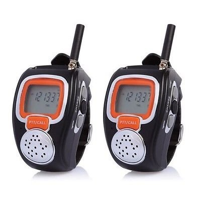 Julyfox Walkie Talkies Watches, 22 Channel 2 Way Radios Battery Operated Rechargeable Backlit LCD Screen Earpiece with Microphone VOX Hands Free Operation for Travel Shopping Kids Adults 2 Pack by Julyfox (Image #5)