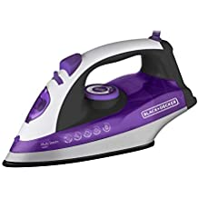 Black+Decker X6000BR, Ferro a Vapor com Base Ceramic Plus 127V - 1200W, Roxo