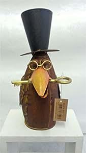 Figura decorativa de pájaro con llave, 23 cm de alto.
