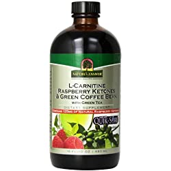 Nature's Answer L-Carnitine Raspberry Ketones Green Coffee Bean with Green Tea Supplement, 16 Ounce