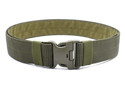 Men's Outdoor Military Nylon Tactical Belt Utility Adjustable and Comfortable,Green - Green Tactical Utility Belt
