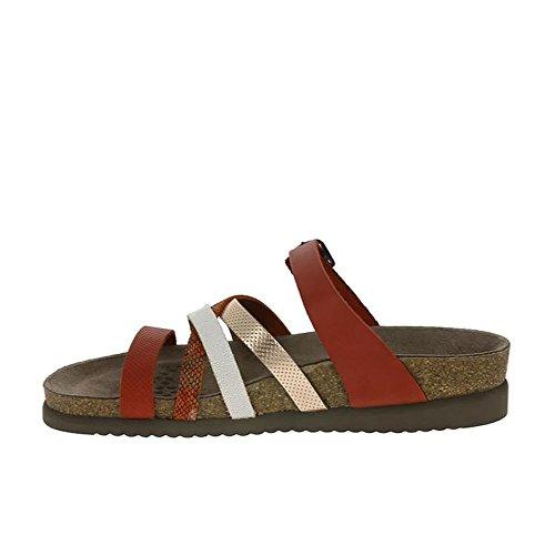 Mephisto Slip On Sandal With Adjustable Strape Rojo