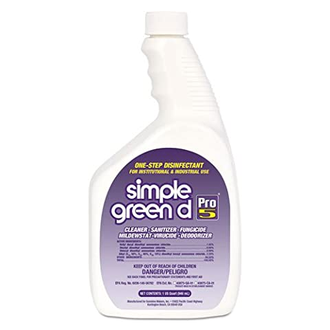 Simple Green d Pro 5 Disinfectant, 32 oz Bottle - Simple Green Hand Cleaner
