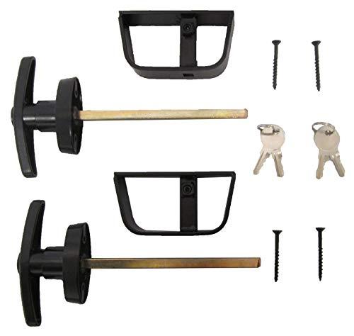 - Shed T-handle Lock Set Black 6 1/2