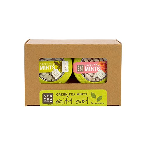 Sencha Naturals Green Tea Mints, Canisters Gift Set, 6 Flavors, 6 Pack