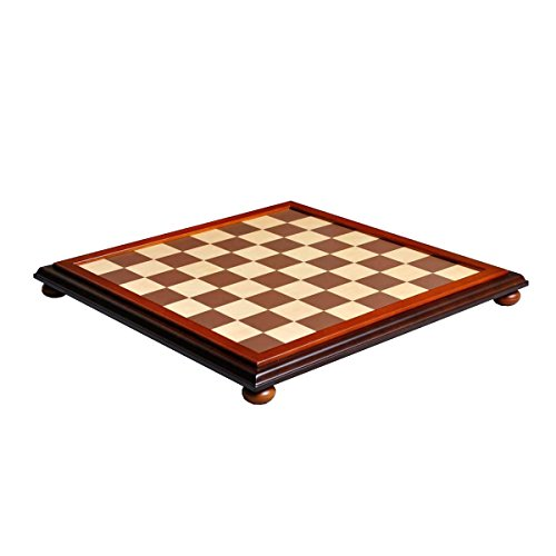 Maple Classic Board - The House of Staunton Walnut and Maple Classic Traditional Chess Board - 2.25