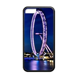 Beautiful Design,London Eye Good Quality Apple iphone 5C TPU (Laser Technology) Case, Cell Phone Cover