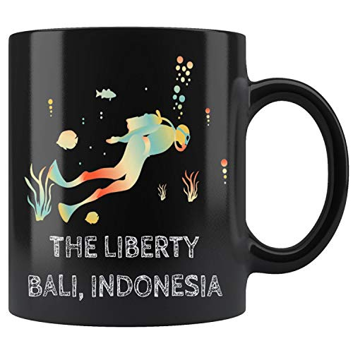 (Diving at The Liberty Bali Indonesia Vintage Mug Coffee Mug 11oz Gift Tea Cups 15oz)