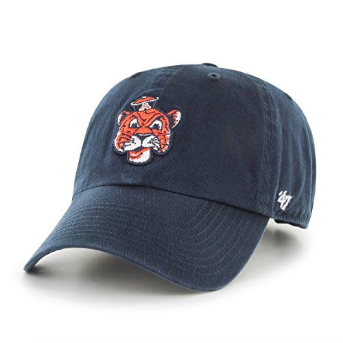 Ncaa Auburn Tigers Clean Up Adjustable Hat  One Size  Navy