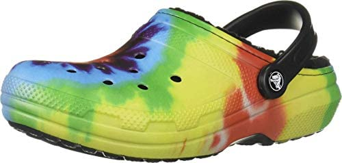 Crocs Men's and Women'sClassic Tie Dye Lined Clog | Warm and Fuzzy Slippers