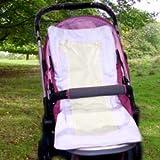 Sweet Ribbon Stroller Liner - Color: Ecru