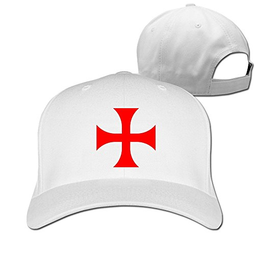 The Cross Of The Templars Adjustable Plain Hat White
