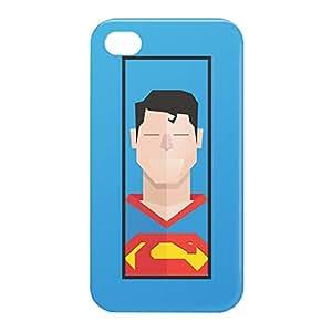 Loud Universe Apple iPhone 4/4s 3D Wrap Around Superman Clark Print Cover - Blue