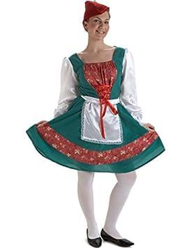 Disfraz Tirolesa lujo (Talla Unica): Amazon.es: Juguetes y juegos