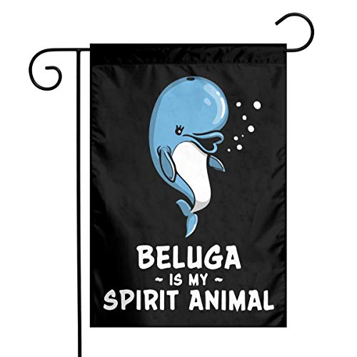 - Beluga Whale Is My Spirit Animal Garden Flag Great Party Decor For Celebration,Festival,Home,Outdoor,Garden Decorations 12 X 18 Inch