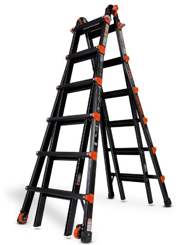 (Little Giant 10126BP PRO Series 300-Pound Duty Rating Multi-Use Aluminum Ladder, 26-Foot)
