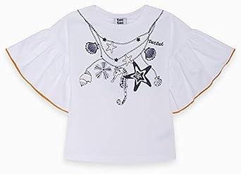 Camiseta Solar Punto Volantes NIÑA Blanca Lost Ocean: Amazon.es: Ropa y accesorios
