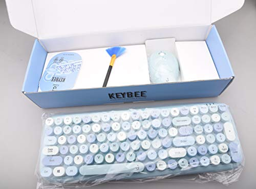 Retro Typewriter Inspired 2.4GHz Wireless Keyboard and Mouse Combo with USB Support
