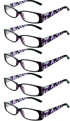 Readers 5 Pack Elegant Womens Mens Reading Glasses - Online Readers Uva