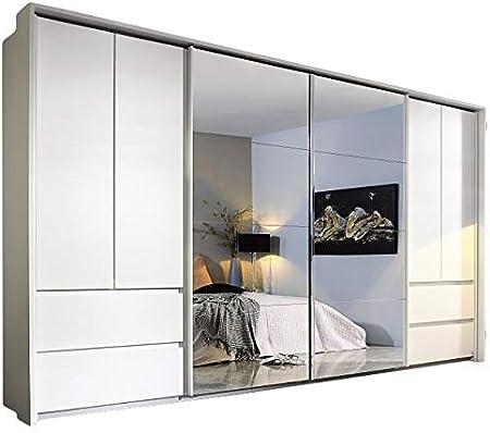 Armario con puertas correderas (8 puertas, 368 cm), color blanco: Amazon.es: Hogar