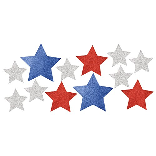 - Creative Converting 328330 Patriotic Cutouts with Glitter, One Size, Multicolor
