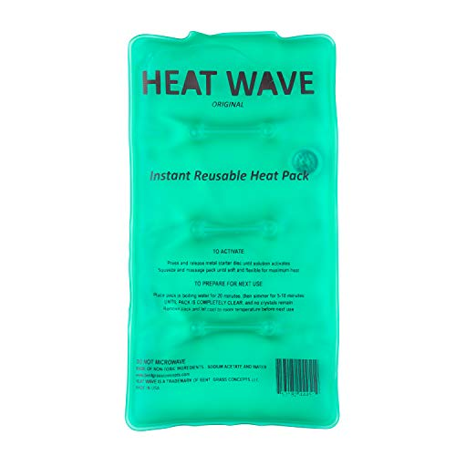 (HEAT WAVE Instant Reusable Heat Pack - Medium (5 x 9 inch size) - Premium Quality - Medical Grade - made in USA (not China))