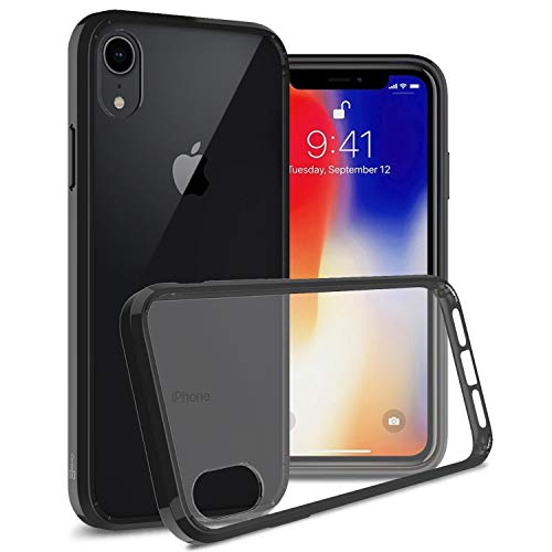 CoverON ClearGuard Series fits for iPhone XR Clear Case, Slim Fit Hard Back Phone Cover with Flexible TPU Sides for iPhone XR (6.1