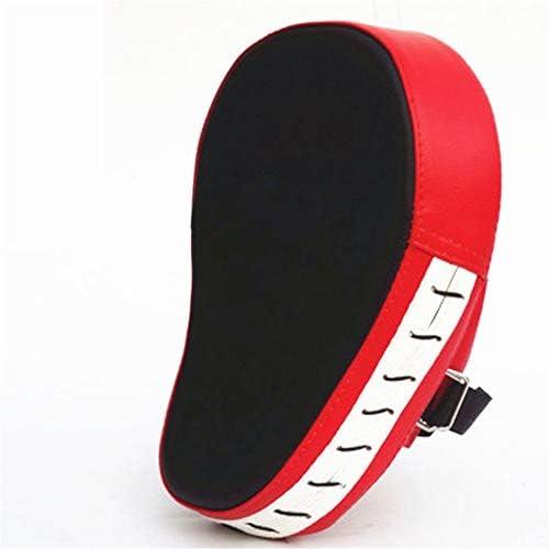 パンチングミット テコンドーダブルフットパッド武道機器スポーツ用品パドルキックパッドターゲットテコンドー空手キックボクシングトレーニングTKDは、パッドの練習キックターゲットトレーニングダブルフェイスを蹴るキック (色 : 赤, サイズ : 25.5*19*4.5cm)