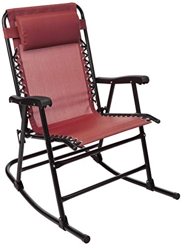 AmazonBasics Foldable Rocking Chair - Red