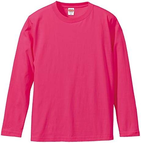 メンズ Tシャツ 長袖 丸首 厚手 5.6オンス 綿100#A514