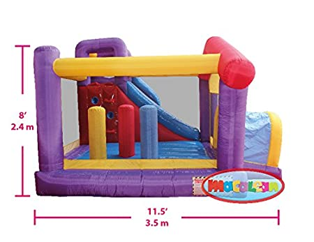 Amazon.com: MACALEAN Inflatable House Slide Bouncer with Blower/MACALEAN Inflable Casita Encantada con Motor: Toys & Games