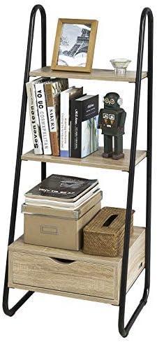 SoBuy Estanteriá en Escalera,Librería Infantil, 2 Estantes y 1 Cajón de Almacenamiento,H115cm,FRG219-N,ES: Amazon.es: Hogar