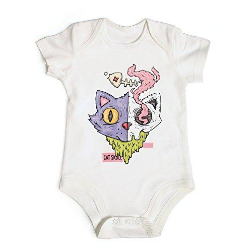 - SEACKE cat Skull Love Fishbone Onesies Baby Printing (9 Months)