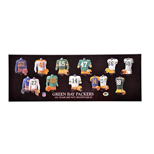Winning Streak NFL Green Bay Packers Legacy Uniform Collection Plaque, Black, One Size