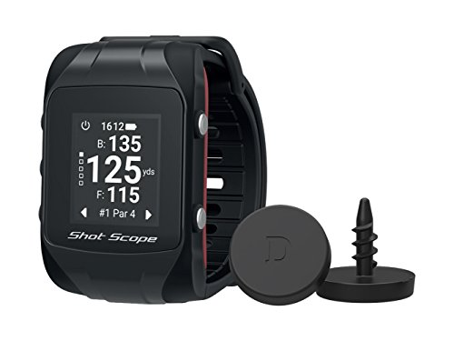 Shot Scope V2 Smart Golf Watch GPS Dynamic Yardages Automatic Performance Tracking Worldwide Courses 100 Statistics for Clubs, Tee Shots, Approaches, Short Game and Putting