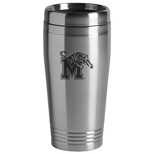 University of Memphis - 16-ounce Travel Mug Tumbler - Silver ()