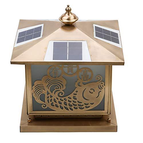 (Goodvon Solar Fence Lights Home Cast Aluminum LED Post Cap Light with Pole Pier& Wall Mount Kits Only Waterproof Rainproof)