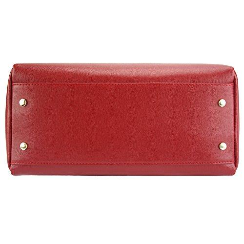 Con Rojo Bolso Leather Asa Oscuro Hecho Superiore Florence Cuero En 8057 Virginia Market HqxtwCP1