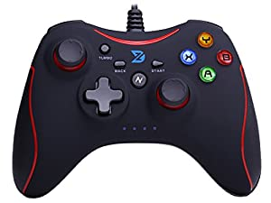 ZD-N Vibration-Feedback USB Wired Gamepad Gaming Controller Joystick Supports PC(Windows XP/7/8/8.1/10) & PS3 & Android (Xbox 360 architecture)