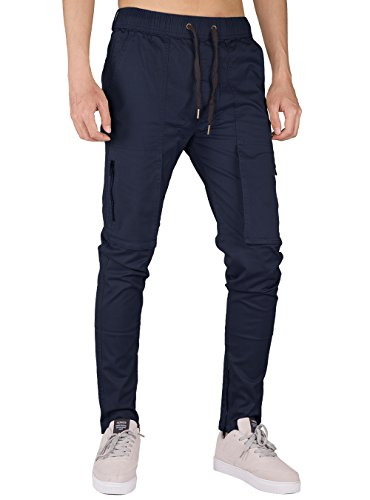 Chino Twill Cotone The Casual Awoken Slim Fit Blu Uomo Scuro Pantaloni Cargo gnFnST